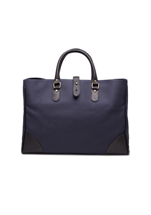 Ettinger Navy Canvas Pursuits Piccadilly Tote Bag