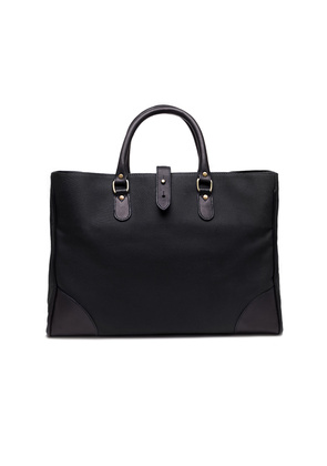 Ettinger Black Canvas Pursuits Piccadilly Tote Bag