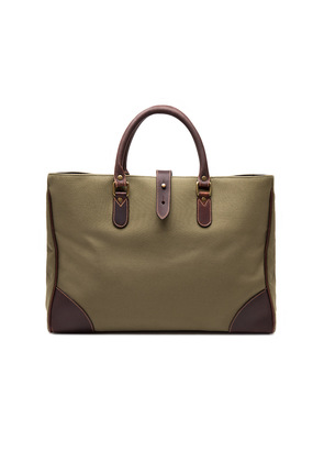 Ettinger Olive Green Canvas Pursuits Piccadilly Tote Bag