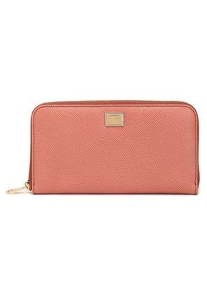 Dolce & Gabbana Woman Textured-leather Wallet Antique Rose Size -