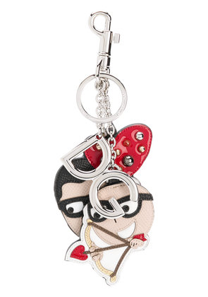 Dolce & Gabbana Stefano and Domenico keyring - Black