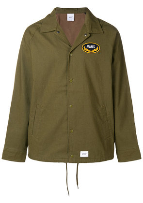 Vans logo patch shirt jacket - Green