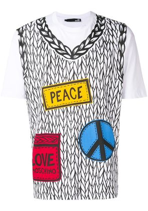 Love Moschino placement printed sweater T-shirt - White