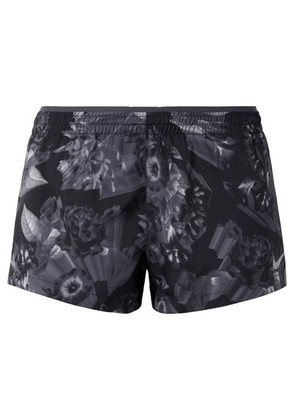 Nike - Elevate Printed Dri-fit Shell Shorts - Anthracite