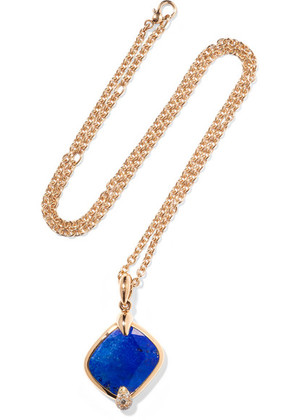Pomellato - Ritratto 18-karat Rose Gold, Lapis Lazuli And Diamond Necklace - one size