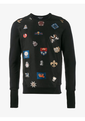 Alexander McQueen badge embroidered sweatshirt