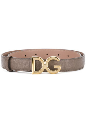 Dolce & Gabbana logo buckle belt - Grey