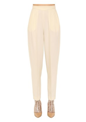 HIGH WAIST WOOL BLEND PANTS