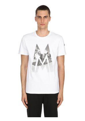 MOUNTAIN LOGO COTTON JERSEY T-SHIRT