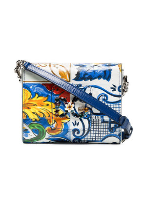 Dolce & Gabbana mutlicoloured Millennials majolica print leather