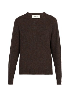 Seamless V-neck wool sweater