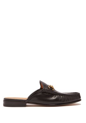 Roos leather backless loafers