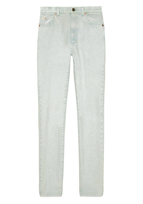 Gucci Skinny denim pant with flowers - Blue
