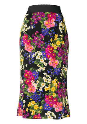 Dolce & Gabbana floral pencil skirt - Black