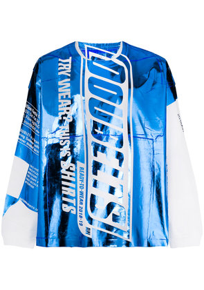 Doublet shiny branded top - Blue