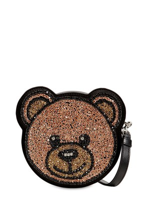 CRYSTAL TEDDY SHOULDER BAG