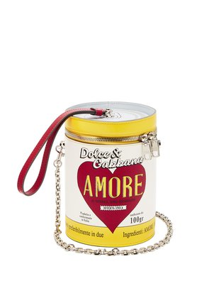 Amore can leather clutch