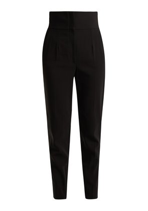 Stretch cotton-blend trousers