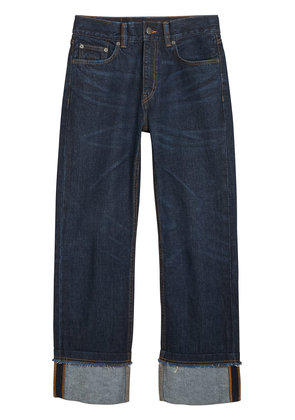 Burberry Relaxed Fit Marble-wash Jeans - Blue