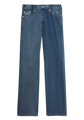 Burberry Straight Fit Two-tone Jeans - Blue