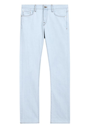 Burberry Straight Fit Bleached Japanese Denim Jeans - Blue