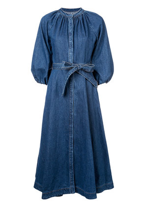 Co belted denim dress - Blue