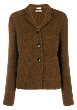 Jil Sander boxy-cut blazer - Brown