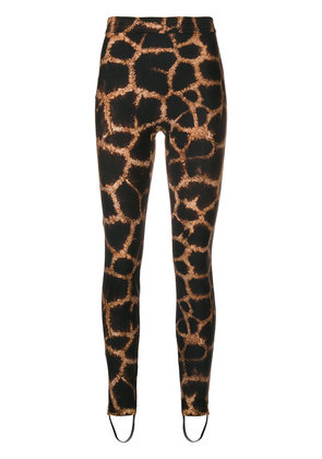 Dolce & Gabbana giraffee printed trousers - Brown