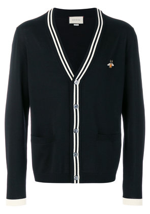 Gucci Bee print cardigan - Black