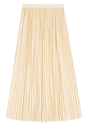 Gucci Pleated mid-length wool skirt - Nude & Neutrals