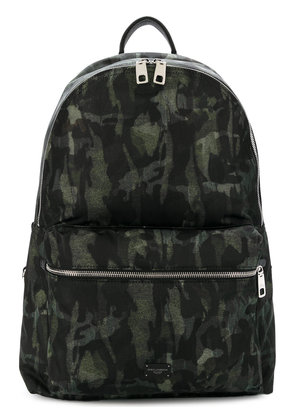 Dolce & Gabbana camouflage zipped backpack - Green