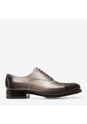 Bally Luthar Brown, Men's calf leather oxford shoe in dark ice