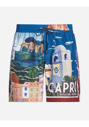 Dolce & Gabbana Beachwear - LONG PRINTED SWIMMING TRUNKS MULTICOLOR
