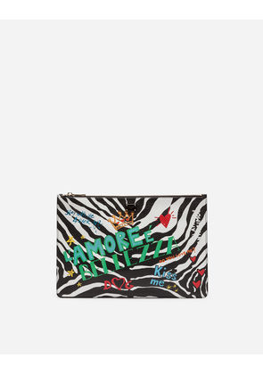Dolce & Gabbana Mini Bags and Clutches - PRINTED DRUMMED CALFSKIN BAG MULTICOLOR