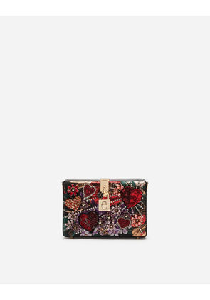 Dolce & Gabbana Mini Bags and Clutches - DOLCE BOX CLUTCH IN LUREX JACQUARD AND AYERS SNAKESKIN MULTICOLOR