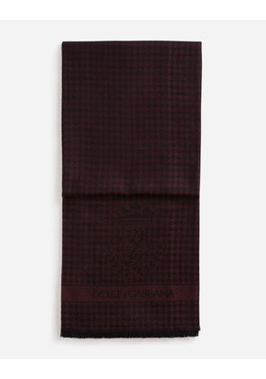 Dolce & Gabbana Scarves and Silks - SCARF IN CASHMERE AND WOOL BORDEAUX
