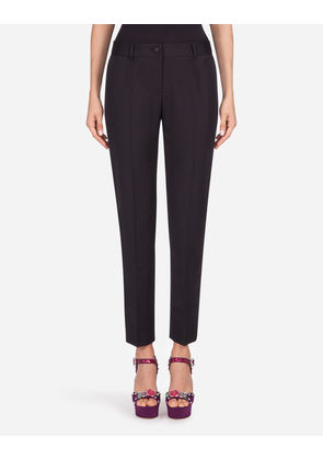 Dolce & Gabbana Trousers and Leggings - WOOL PANTS BLACK