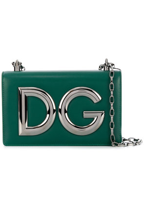 Dolce & Gabbana logo cross-body bag - Green