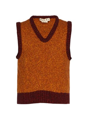 Wool-blend knitted vest