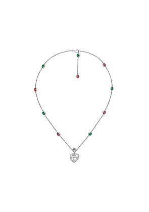 Gucci Blind for Love necklace in silver - Metallic