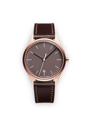 Uniform Wares C36 Date watch - Brown