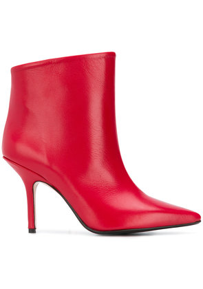 Anna F. pointed ankle boots - Red
