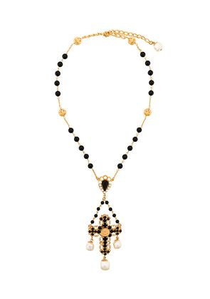 Dolce & Gabbana beaded crucifix necklace - Black
