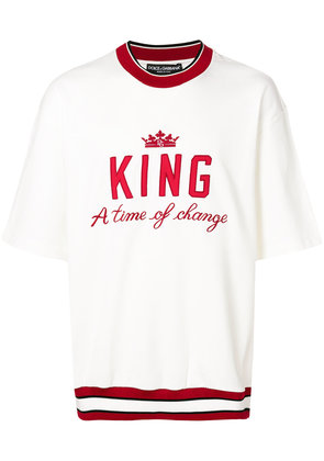Dolce & Gabbana King sweatshirt - White