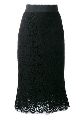 Dolce & Gabbana lace pencil skirt - Black