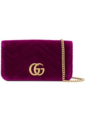 Gucci GG Marmont logo clutch - Pink & Purple