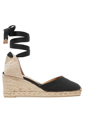 Castañer - Carina Canvas Wedge Espadrilles - Black