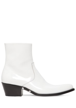 TEX POLISHED LEATHER ANKLE BOOTS
