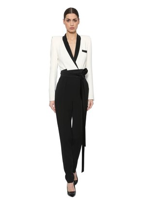STRETCH CREPE VISCOSE JUMPSUIT