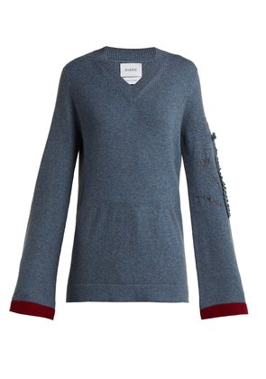 Bright Side V-neck cashmere sweater